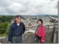 ホーエンザルツブルク城の上から望む市内