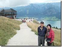 シャーフベルク山の頂上で