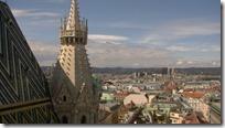 シュテファン大聖堂北塔からの風景