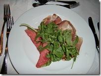 ザルツブルクのホテルの夕食