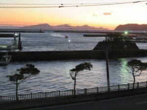 夜明けの福江港